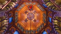 Aachener dom 360 grad panoramen detail decke des oktogon  %c2%ae tourismus nrw e.v.